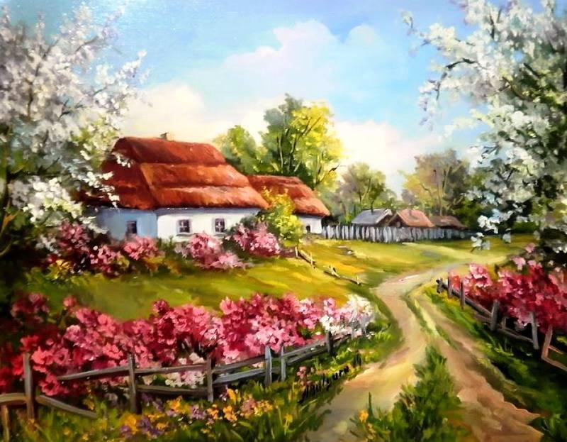 Anca Bulgaru Осенний пейзаж