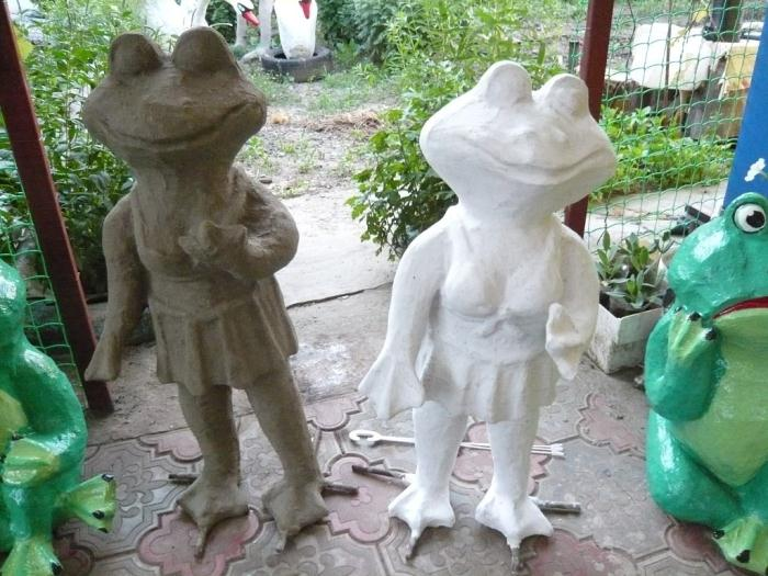 Как своими руками сделать фигурки для сада своими руками пошагово 59