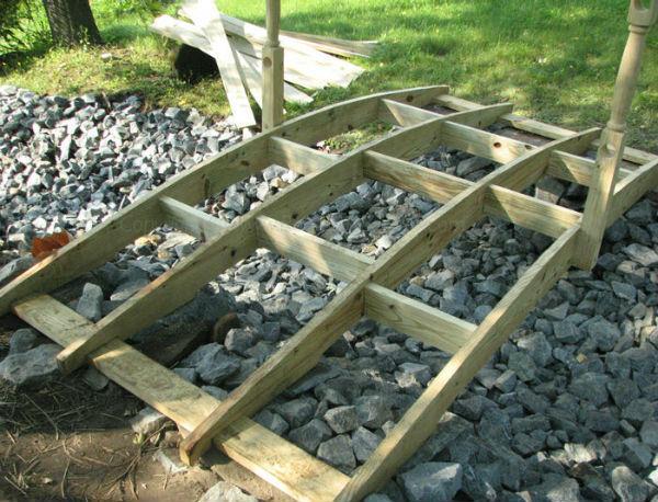 Деревянные мостики для дачи своими руками 596