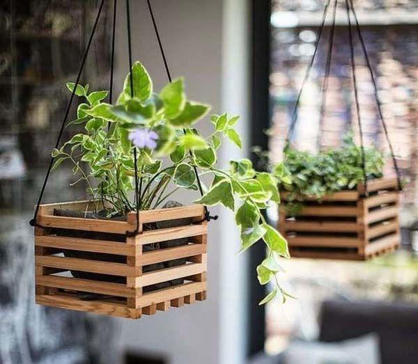 Ящик для цветов деревянный декор своими руками