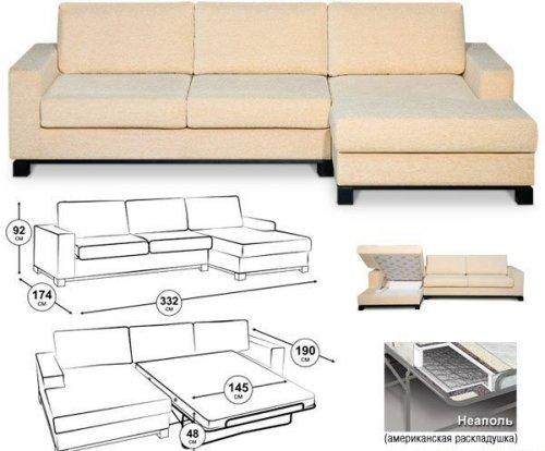 Разобрать угловой диван своими руками