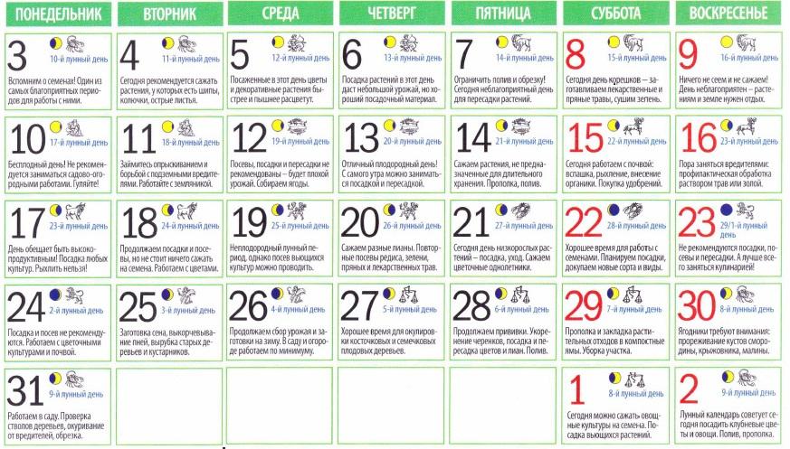 Лунный календарь украина 2017 май
