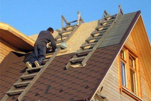 Как и из чего лучше сделать крышу дома 70